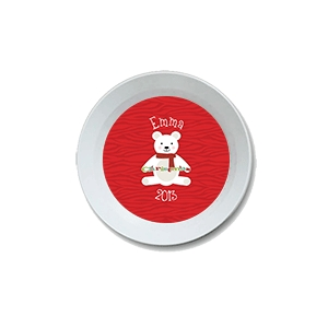 Polar Bear Personalized Christmas Bowl