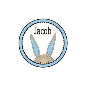 Bunny Boy Girls Personalized Easter Plate
