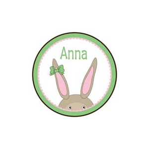 Bunny Girl Personalized Easter Plate