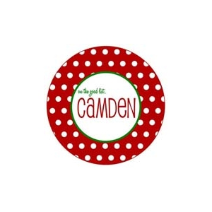 Dots Personalized Christmas Plate