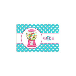Gumballs Girls Personalized Placemat