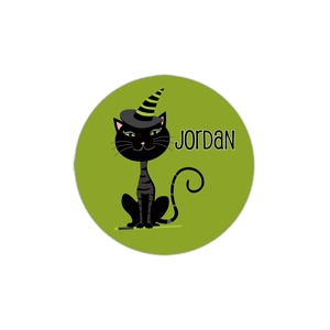 Black Cat Personalized Halloween Plate