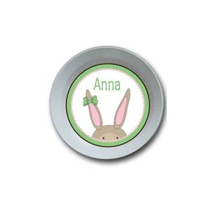 Bunny Girl Personalized Easter Bowl