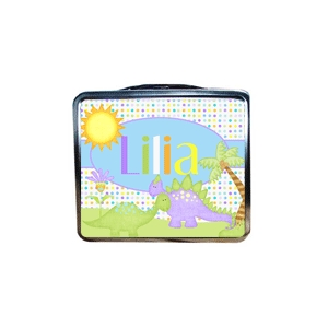 Cute Dinosaur Personalized Lunchbox.