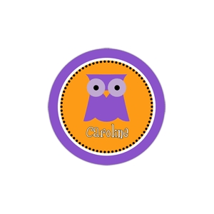 Purple Owl Personalized Halloween Plate