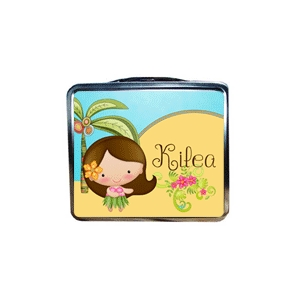 Little Hula Girl Personalized Lunchbox