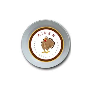 Little Turkey Personalized Thanksgiving Bowl