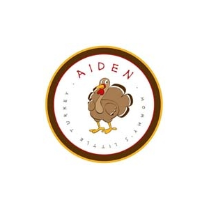 Little Turkey Personalized Thanksgiving Plate