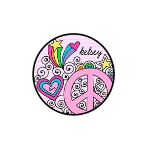 Peace Love Personalized Valentine Plate