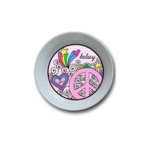 Peace Love Personalized Valentine Bowl