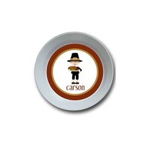Pilgrim Boy Personalized Thanksgiving Bowl