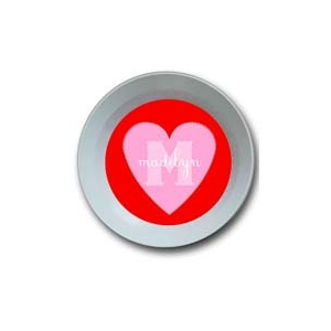 Candy Heart Personalized Valentine Bowl