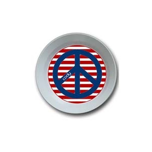 Red White and Peace Personalized 4th of July Bowl