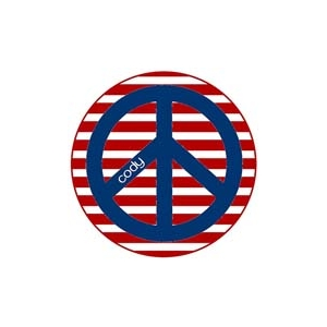 Red White and Peace Personalized 4th of July Plate