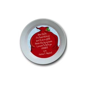Santa's Bag Personalized Christmas Bowl