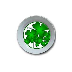 Shamrock Personalized St. Patrick's Day Bowl