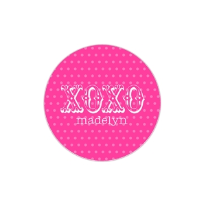XOXO Pink Personalized Valentine Plate