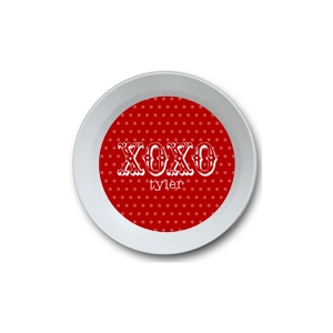 XO XO Red Personalized Valentine Bowl