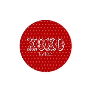 XOXO Red Personalized Valentine Plate