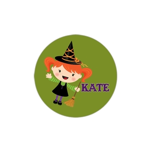 Halloween Girl Personalized Halloween Plate