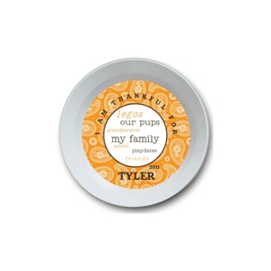 Paisley Boy Personalized Thanksgiving Bowl