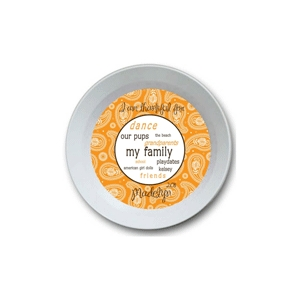 Paisley Girl Personalized Thanksgiving Bowl