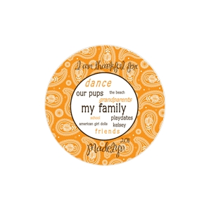 Paisley Girls Personalized Thanksgiving Plate