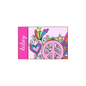 Peace and Love Place Mat
