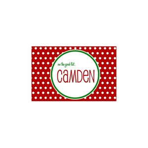 Polka Dot Christmas Place Mat
