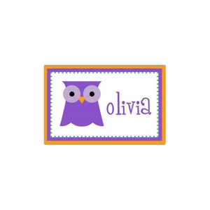Purple Owl Place Mat