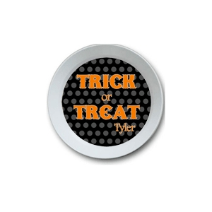 Trick or Treat Personalized Halloween Bowl