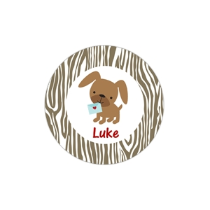 Puppy Love Personalized Valentine Plate