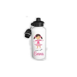 Ice Skater Personalized Water Bottle