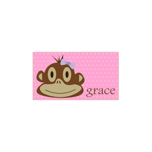 Monkey Girl Personalized Place Mat