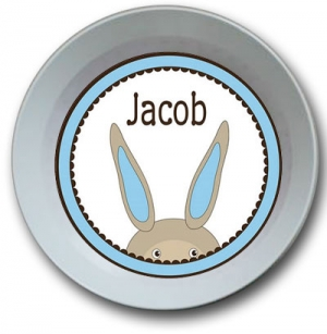 Bunny Boy Personalized Easter Bowl