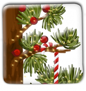 Christmas Tree Candy Cane Christmas Magnet