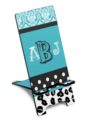 Personalized Cheetah Damask Dot Phone Stand