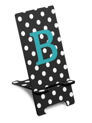 Personalized Polka Dot Phone Stand