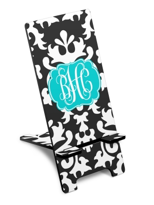 Personalized Vintage Damask Phone Stand