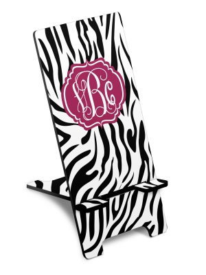 Personalized Zebra Print Phone Stand