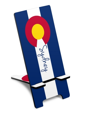 Colorado Flag Personalized Phone Stand