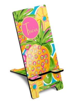Preppy Pineapple Custom Personalized Smart Phone Stand