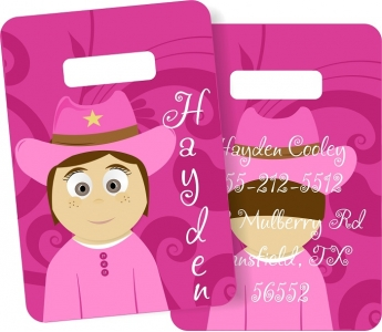 Little Me Girls Monogrammed Bag Tag - Design Your Own Hayden