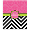 Damask Chevron Personalized Velveteen Plush Blanket Throw