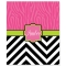 Zebra Chevron Personalized Velveteen Plush Blanket Throw