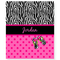 Zebra Polka Dot Personalized Velveteen Plush Blanket Throw