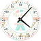 Tribal Pattern Personalized Decorative Wall Clock