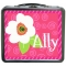 Flower Swirls Girls Personalized Girls Lunchbox