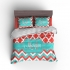 Moroccan Chevron Personalized Bedding Set Personalized Duvet or Comforter