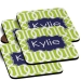 Lattice Print Personalized Coaster Set of 4
